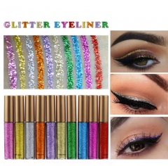 5Pcs Glitter Eyes Makeup Women Easy to Wear Waterproof Pigmented Liquid Eyeliner Glitter Makeup 5pcs
