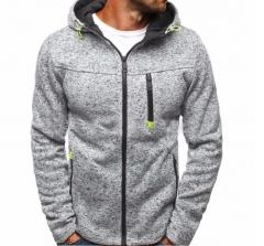 Hoodie Male Cardigan Hoodies Men Zipper Sweatshirt Hoodies Mens Hooded Plus size Coat Jacket light gray m