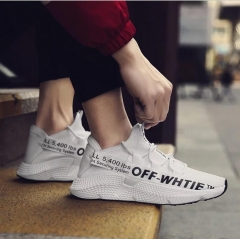 Casual Shoes Men Breathable Autumn Summer Mesh Shoes Chaussure Ultras Boosts Superstar Sneakers white&black 7