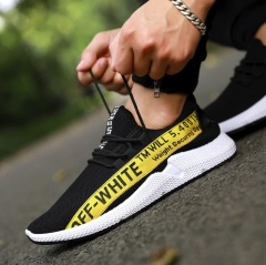Casual Shoes Men Breathable Autumn Summer Mesh Shoes Chaussure Ultras Boosts Superstar Sneakers black&yellow 39