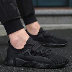 M&J Men Casual Shoes Breathable Male Shoes Outdoor Shoes Fashion Sneakers Men black 39