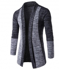 New Fashion Autumn Classic Cuff Hit Colors Men's Sweaters High Quality Cardigan Casual Coat nitwear dark gray m