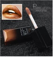 3PCs/9PCs Waterproof Nude Matte Velvet Glossy Lip Gloss Lipstick Sexy Red Lip Tint  Makeup Gift 19#