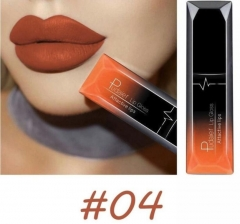 3PCs/9PCs Waterproof Nude Matte Velvet Glossy Lip Gloss Lipstick Sexy Red Lip Tint  Makeup Gift 4#