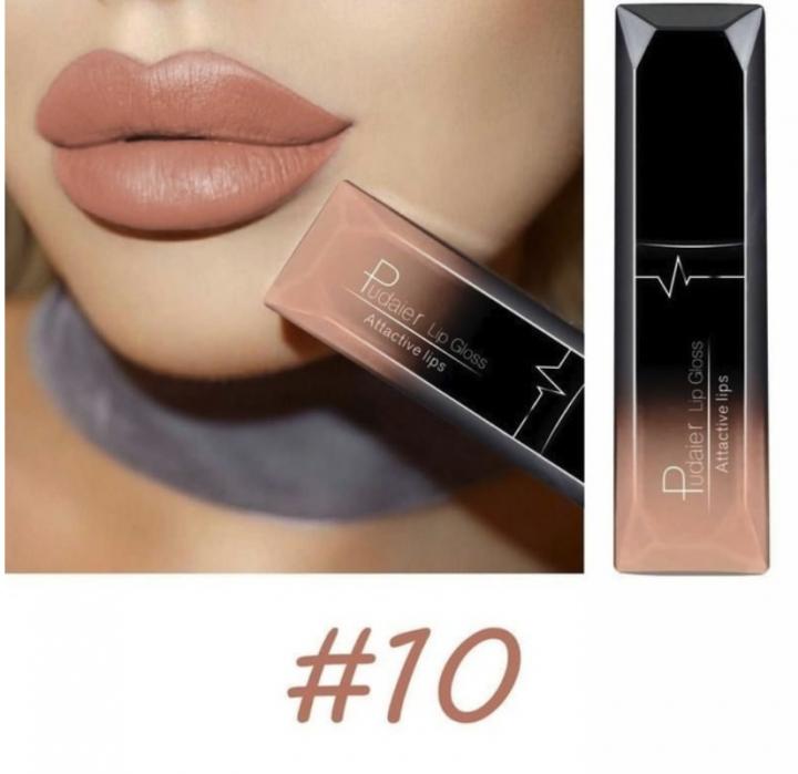 3PCs/9PCs Waterproof Nude Matte Velvet Glossy Lip Gloss Lipstick Sexy Red Lip Tint  Makeup Gift 10#