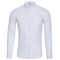 Spring/Autumn Men Shirt High Quality Corduroy Long Sleeve Solid Comfort Casual Brand Clothes white m