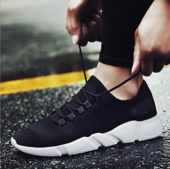 New Arrival Men Fashion Sneakers Mesh Breathable Sports Shoes Outdoor Causal Shoes black 39