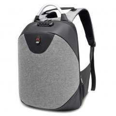 M&J USB Charge Anti Theft Backpack for Men 15.6 inch Laptop Mens Backpacks Travel School Backpack gray 15.6inch