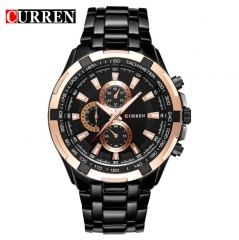 CURREN Watches Men Quartz Top Brand Analog Military Watches Men Sports Waterproof Business Watches style 1 normal