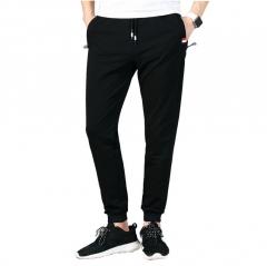 M&J Men Fitness Sweatpants Pants Casual Elastic Cotton Brand Trousers Joggers Pants for Men black m
