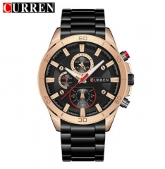 CURREN Men Watches Top Brand Luxury Men Military Wristwatches Full Steel Men Sports Watch Waterproof style 2 normal