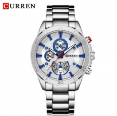 CURREN Men Watches Top Brand Luxury Men Military Wristwatches Full Steel Men Sports Watch Waterproof style 4 normal