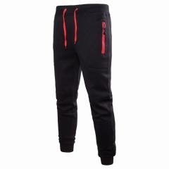 M&J Men's Casual Sweatpants Jogger Harem Trousers Slacks Wear Drawstring Pants black m