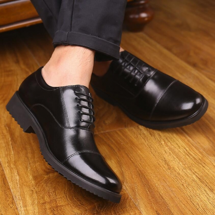 High Quality Men's Genuine Leather Shoes Office Official Shoes Wedding Party Shoes Male Formal Shoes black 40 genuine leather