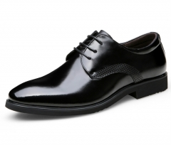 M&J High Quality Men's Genuine Leather Shoes Office Shoes Wedding Party Shoes Male Formal Shoes black 38 genuine leather