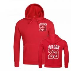Men Women JORDAN 23 Letter Print Hoodies Fashion Cotton Casual Hoodie Sweatshirts Men/Women Hoodies red m
