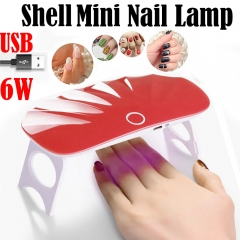 USB 6W LED Drying Curing Machine Tool UV Nail Dryers Lamp Gel Professional Lamp For Finger Toenails Red