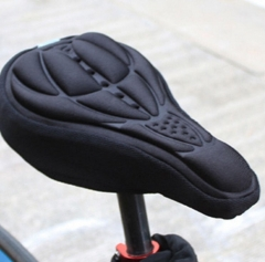 M&J Cycling 3D Pad Bicycle Soft Saddle Seat Cover Bike Cushion Outdoor Sports Bicycle Accessories black