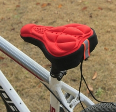 M&J Cycling 3D Pad Bicycle Soft Saddle Seat Cover Bike Cushion Outdoor Sports Bicycle Accessories red