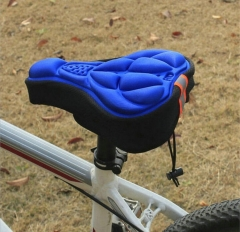 M&J Cycling 3D Pad Bicycle Soft Saddle Seat Cover Bike Cushion Outdoor Sports Bicycle Accessories blue