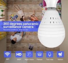 360° Panoramic 960P SPY Hidden Wireless Wifi Camera Light Bulb Home Security IP CAM Lamp CCTV Camera 960P IR light(no card) one size