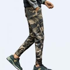 M&J Men Joggers Harem Pants Men Camouflage Military Pants Comfortable Cargo Trousers khaki m