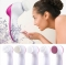 5 in 1 Electric Facial Cleanser Face Cleaning Machine Skin Cleaner Body Cleansing Beauty Brush pink