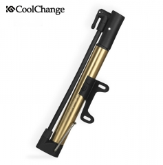 CoolChange Household Bicycle Pump Mountain Bike Mini Portable Pump High Pressure Gold One size