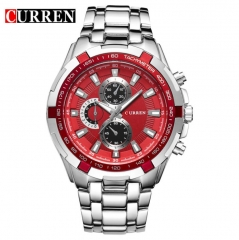 CURREN Watches Men Quartz Top Brand Analog Military Watches Men Sports Waterproof Business Watches style 8 normal