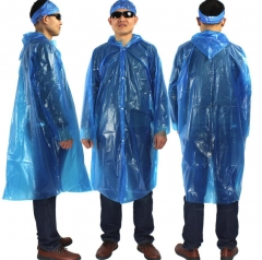 M&J 1PCs Adult Raincoats Outdoor Travelling Waterproof Coat Emergency Rainwear blue