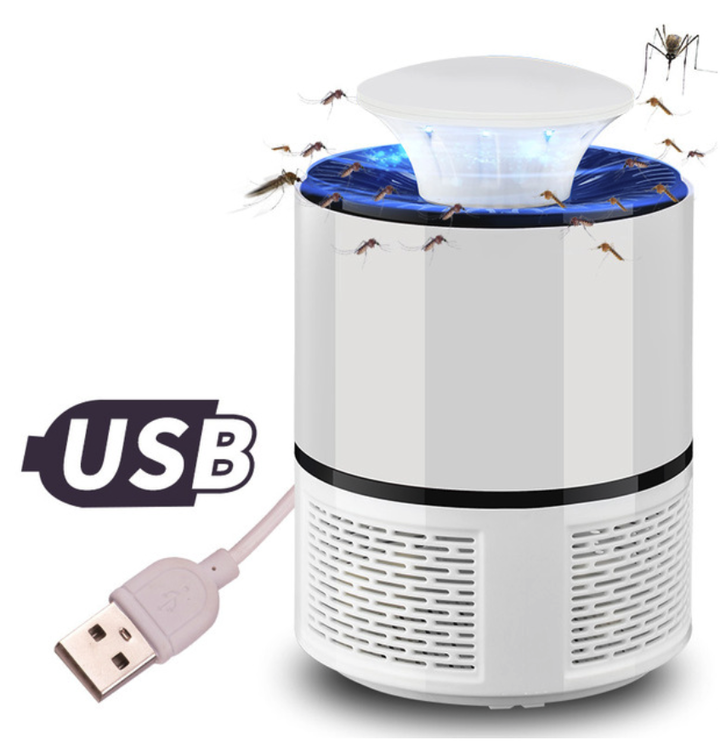 M&J USB LED Mosquito Killer Lamp Night Light Bug Lamp Zapper Outdoor Camping Anti Insect Tools white 19*13cm