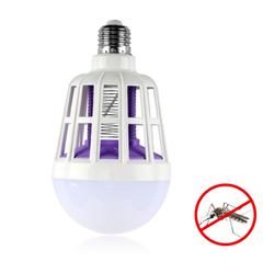 M&J Mosquito Killer Lamp  LED Bulb Electric Mosquito Killer Light  Electronic Anti Insect Bug Lamps white 9*15.5cm