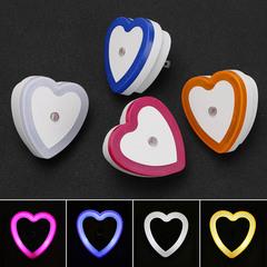 M&J Light Sensor Control Night Light Mini Novelty Square Bedroom Lamp For Baby Gift heart 65mm 0.5W