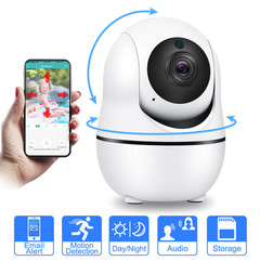 Smart Wireless Camera Audio Wifi Security CCTV Camera Home Alarm Camera Baby/Pet Monitor White 1080P