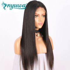 M&J 100% Straight Lace Front Human Hair Wigs Pre Plucked Baby Hair Glueless Lace Front Wigs Bob Wig Natural Color Lace Front 8 inches