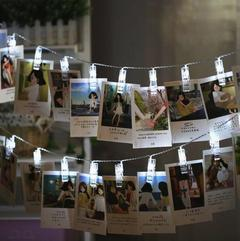 M&J Photo Clip Holder LED String Lights New Year Party Wedding Home Decoration Fairy lights Battery White 1.5M 10 LED 5W