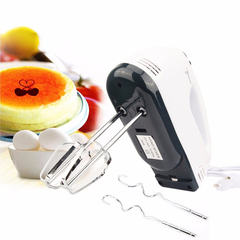 M&J 7 Speed Dough Hand Mixer Egg Beater Food Blender Multifunctional Electric Kitchen Mixer white 4.33*2.8*7.09 inch