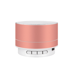 M&J Wireless Bluetooth Speaker Metal Mini Portable Subwoof Sound With Mic TF Card FM Radio Pink 3w A10