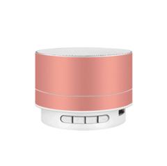 M&J Wireless Bluetooth Speaker Metal Mini Portable Subwoof Sound With Mic TF Card Pink 3w A10