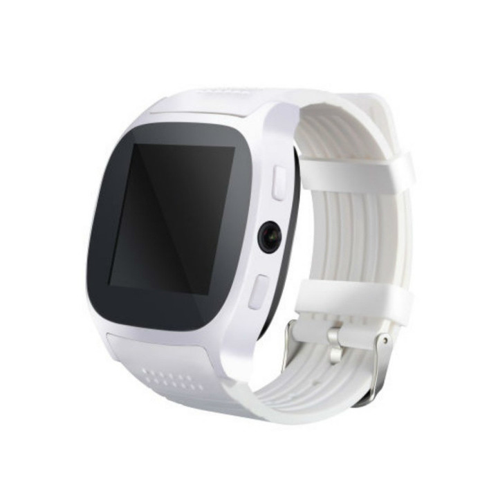 T8 Bluetooth Smart Watch With Camera  Whatsapp Support SIM TF Card Call Smartwatch For Android Phone white one size