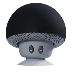 M&J Mini Mushroom Wireless Bluetooth Speaker MP3 Player With Mic Portable Stereo For Mobile Phone black 3w v4.2