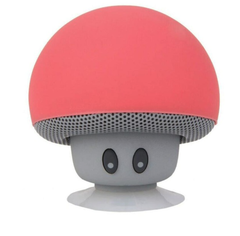 M&J Mini Mushroom Wireless Bluetooth Speaker MP3 Player With Mic Portable Stereo For Mobile Phone red 3w v4.2