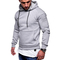 M&J Men Hoodies Fashion Hooded Sweatshirt Top Hoodies Male Hip Hop Pullover Streetwear light gray l