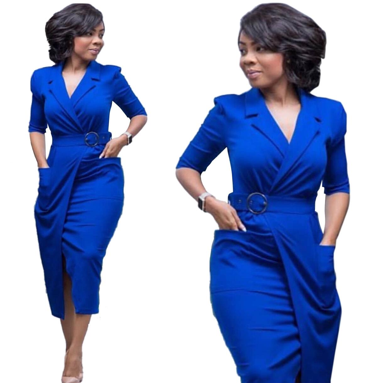 M J Fashion Women Vintage Dresses Elegant Lady Long Sleeve Pencil Dress  Work Office Wear Vestidos m blue  Product No  7724909. Item specifics   Brand  ea1c16396b5d