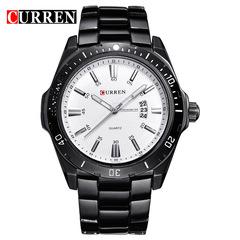 NEW Curren Watches Men Top Brand Fashion Watch Quartz Watch Relogio Masculino Men Army Sports Analog black white 43mm
