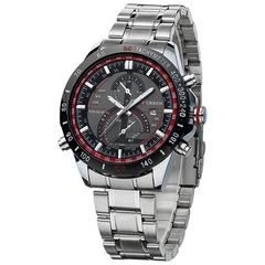 Curren Dashboard Dail Men Stainless Steel Quartz Watches Fashion Casual Military Wristwatch Gift silver black 45mm