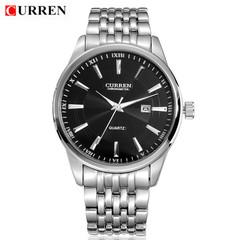 CURREN Watches Men Luxury Brand Business Casual Watch Quartz Watches silver black 43mm