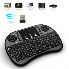 M&J Mini Keyboard I8 2.4G Wireless Keyboard Receiver Optical Mouse Keyboard For Android TV Box PC black no backlight as picture