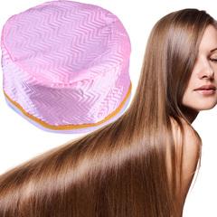 Hair Steamer Cap Dryers Electric Hair Heating Cap Treatment Hat Beauty SPA Nourishing Hair Styling Pink 23*17cm