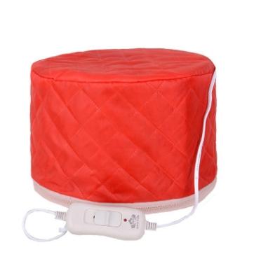 Electric SPA Hair Care Cap Hair Thermal Treatment Beauty Steamer Hair Nourishing Hair Dryers RED 23*17cm